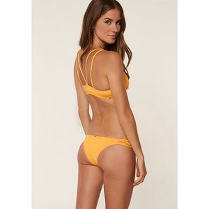 O'Neill Salt Water Solids Yellow Skimpy Bikini XS
